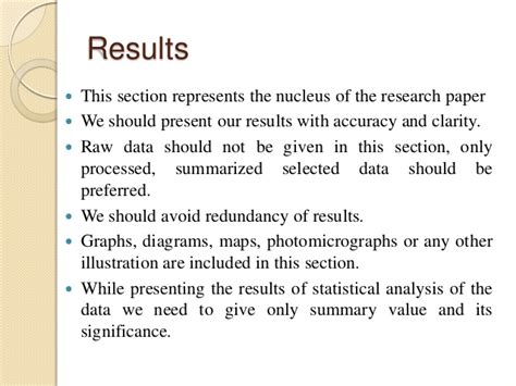 results section of research paper how to write a good research paper