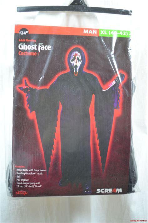 ghost face bleeding mask scream bleeding ghost face costume mens sz xl or 2xl robe