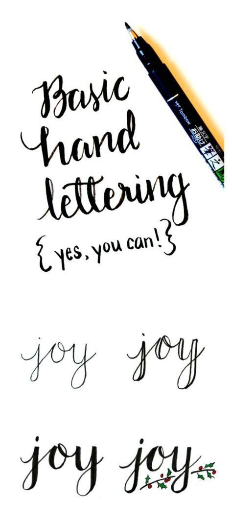Tutorial Lettering Font | basic hand lettering tutorial art pinterest hand