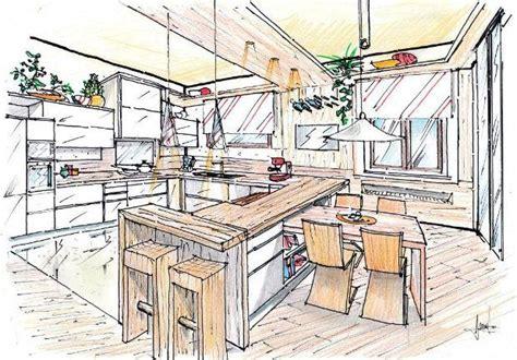 disegno di una cucina legno in cucina