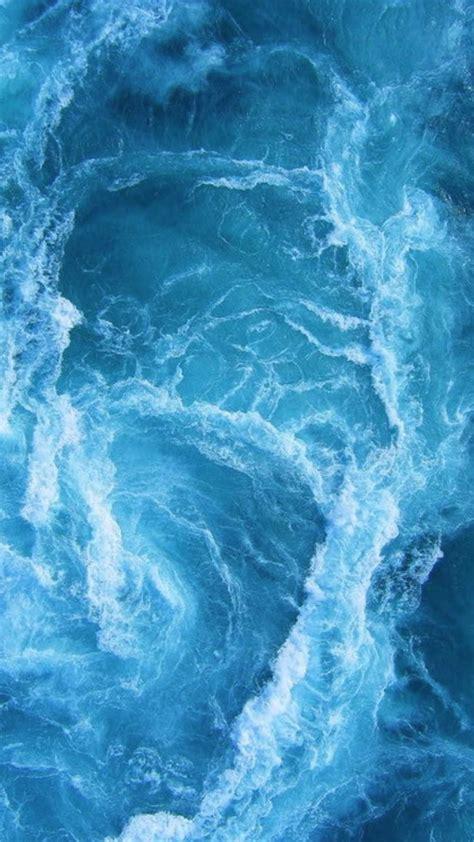swirling blue ocean waves iphone  hd wallpaper hd