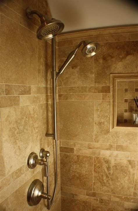 bathroom shower head ideas hand held shower w shower head bathrooms pinterest