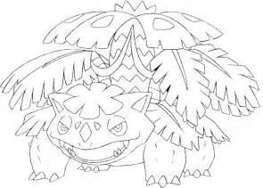 Mega Venuasaur Colouring Pages sketch template