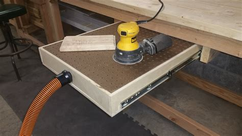 sanding bench how to build a down draft sanding table youtube