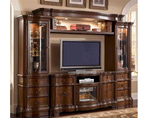 wall units wall unit in classic cherry finish mcfe9100