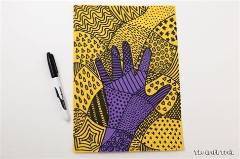 create doodle handprint doodle the craft