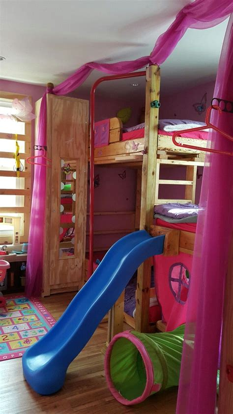 Beds With Slides by Custom Made Tripple Bunk Bed With Slide Monkey Bars
