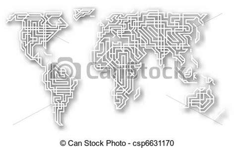 clipart mondo stilizzato mondo disinserimento mappa mappa fatto