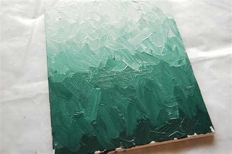 how to preserve acrylic paint on canvas the pink doormat diy ombre painting