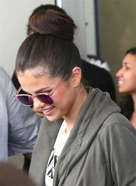 Justin Confirms Split by Selena Gomez High Bun Selena Gomez And Hudgens
