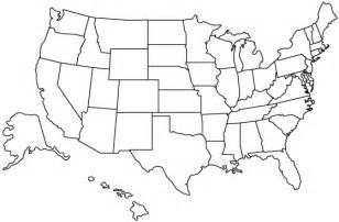 a blank map of the united states united states outline map