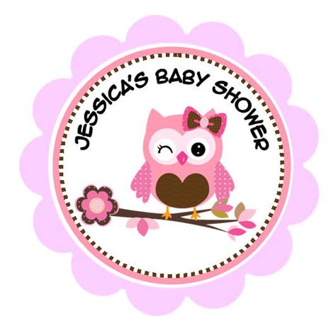 personalized 2 or 2 5 pink owl baby shower