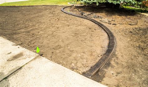 Install Plastic Landscape Edging How To Install Landscape Edging Ebay