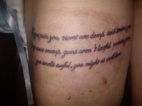 tattoo pain medication poem tattoo picture at checkoutmyink com