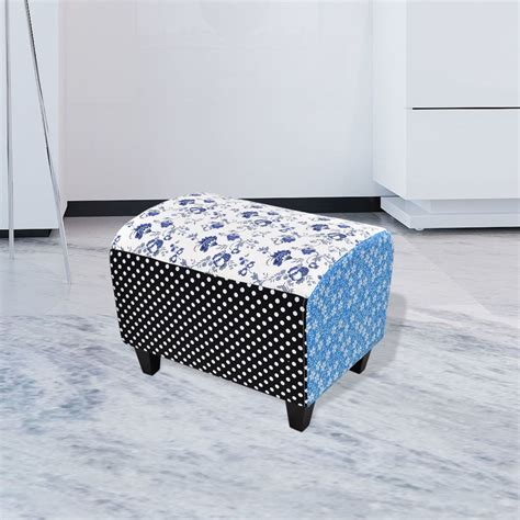 Patchwork Footstool - patchwork footstool ottoman country living style vidaxl