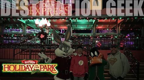 holiday park flags america christmas event