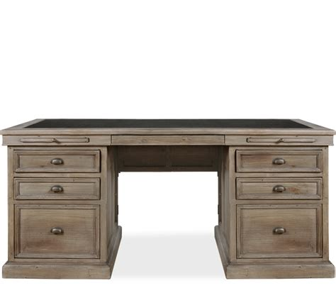 hugo executive desk constructed of reclaimed pine with