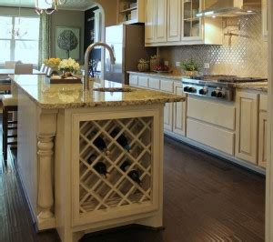 kitchen islands with wine racks kitchen cabinet design island options burrows cabinets central builder direct custom