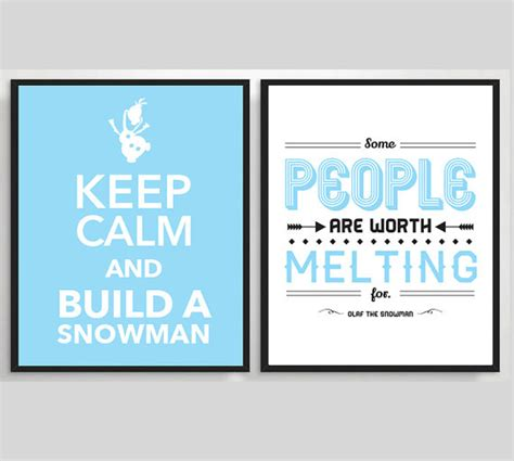 printable olaf quotes 2 x printable frozen poster olaf the snowman printable by