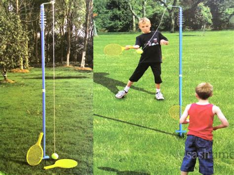 swing games for kids outdoor garden game badminton croquet set rotor spin