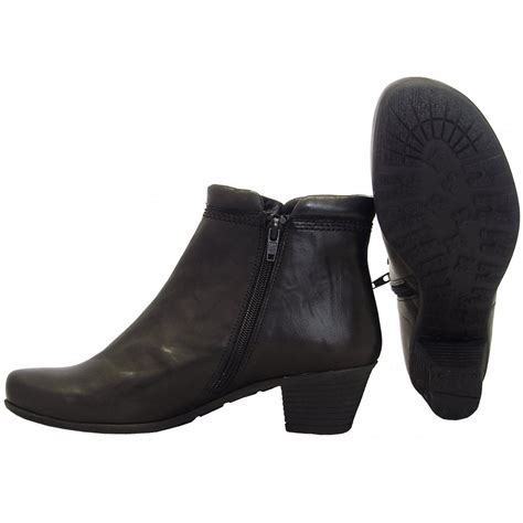 black boots for gabor boots sound ankle boot in black mozimo
