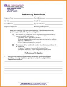 Probation Evaluation Letter Letter Of Employment Probationary Period