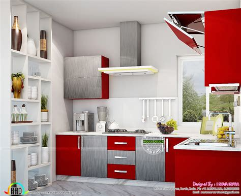 Interior Decoration For Kitchen Kitchen Interior Works At Trivandrum Kerala Home Design