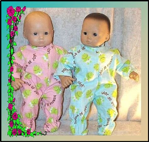 Doll clothes baby pajamas fit 15 quot inch american girl bitty twins frogs happy ebay