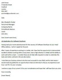 Cover Letter Software by Cover Letter For A Software Developer Icover Org Uk