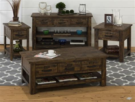 solid wood coffee table set cannon valley transitional solid wood coffee table set