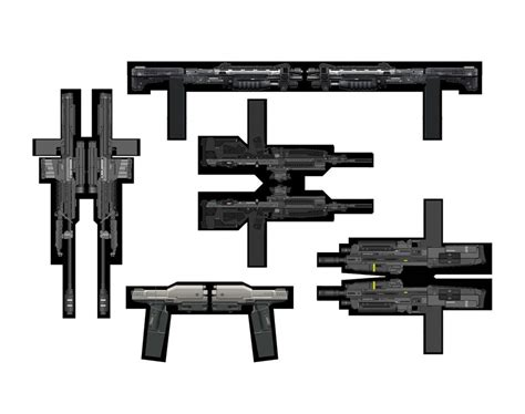 papercraft weapons templates noble team cubee weapons by mikeyplater on deviantart