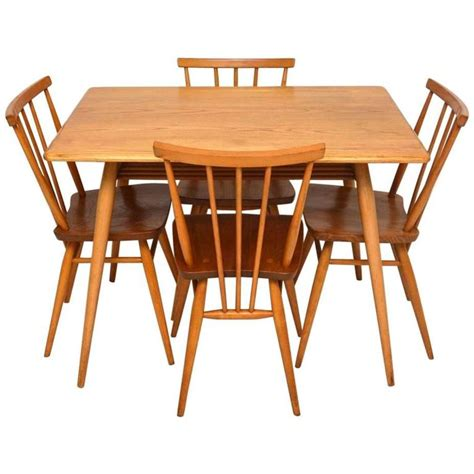 Elm Table And Chairs by Retro Elm Dining Table And Chairs By Ercol Vintage 1960s