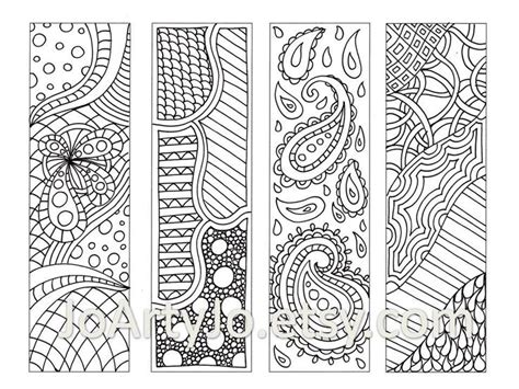 zentangle pattern sheet zentangle inspired bookmarks printable coloring digital