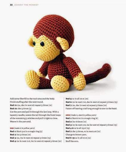 Handmade World - handmade world crochet johnny the monkey