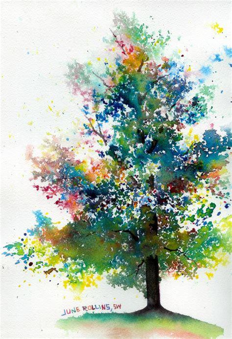 water color tree the triad tree june rollins