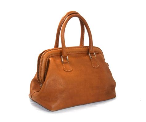 Fashion Doctor Bag Y 1 fendi cognac selleria leather medium doctor bag at 1stdibs