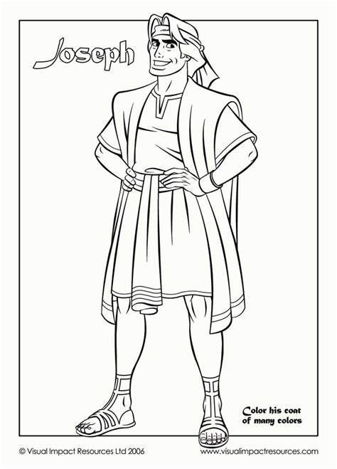 coloring sheets for joseph free coloring pages of joseph his coat