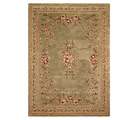 royal palace floral garland 8 x 11 handmade wool rug qvc