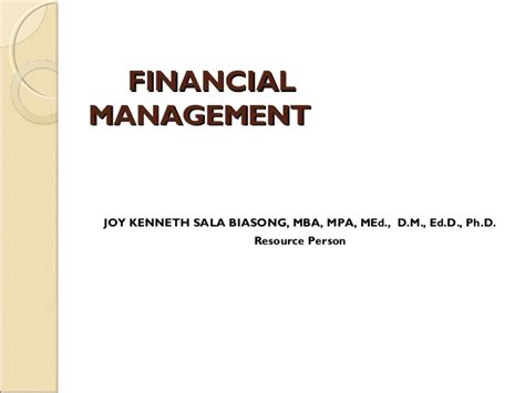 What Is Mba Investment Management by Financial Management Term Course For Non Finance
