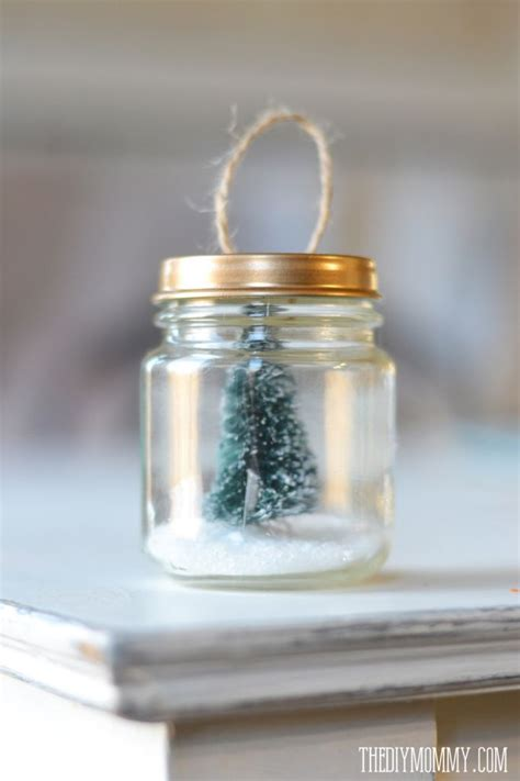 diy ornament a recycled baby food jar tree snow