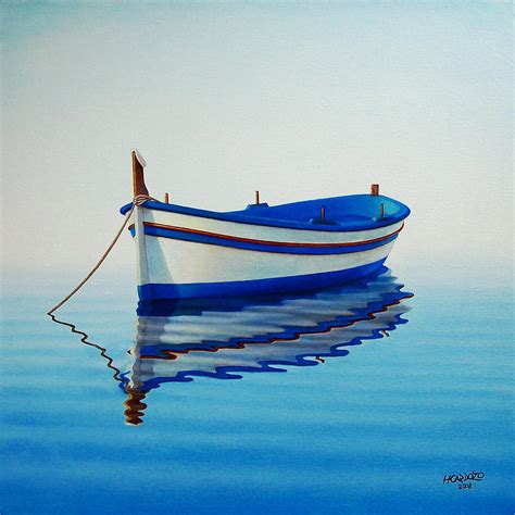 boat drawing prints fishing boat ii painting by horacio cardozo