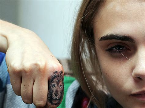 cara delevingne lion tattoo artist how artist is leaving his on