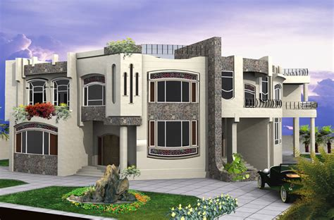 Modern Villa Plans by New Home Designs Latest Modern Residential Villas