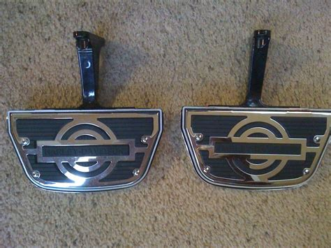 fs passenger footboards w covers and inserts harley