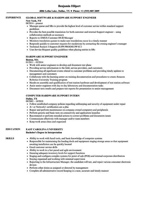 resume format for hardware hardware support resume sles velvet