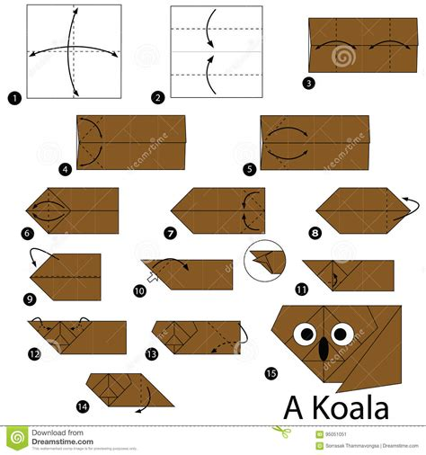 how to make an origami koala origami koala gallery craft decoration