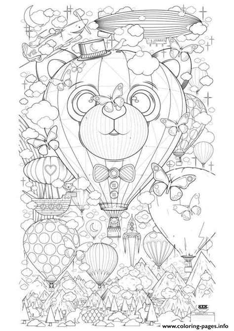 anti stress coloring pages free printable zen anti stress air balloon zen anti stress to