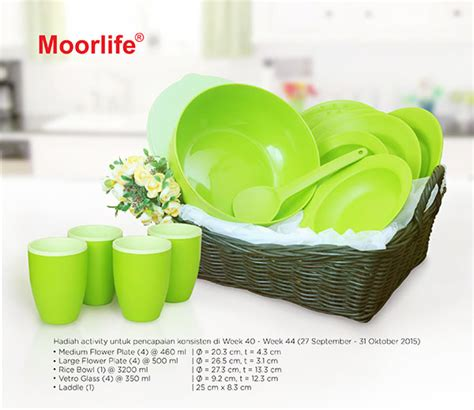 Rice Bowl Dan Rice Spoon Moorlife moorlife wadah plastik berkualitas cmn promo activity
