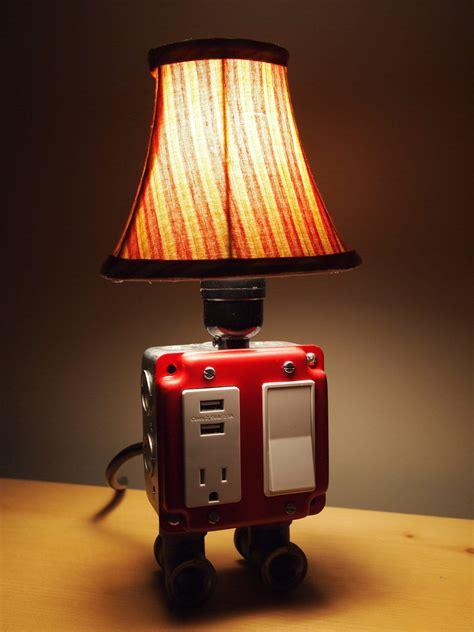desk lighting ideas gadget charger table ls for a true geek s living quarters
