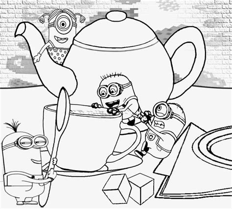 free minions coloring pages free coloring pages of working minions
